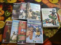 Assorted Shaun the Sheep DVDs