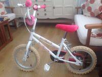 Child's bike (Girl's). Hardly used.