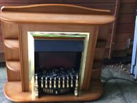 Electric Fire with surround