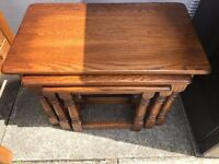 Ercol Set of three Nest- Nest of table immaculate