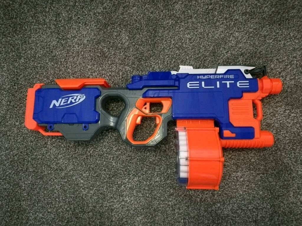 Image is loading 2-SET-Elite-Nerf-Strike-N-Hyperfire-Blaster-