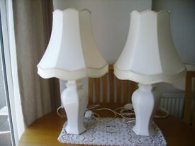 Two Lounge China Lamps