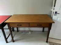 2 vintage Oak School tables for sale