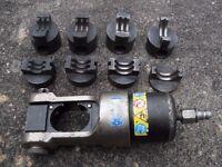 Cembre ECW-H3D hydraulic crimper, crimping tool, head & die adaptor & 4 die sets