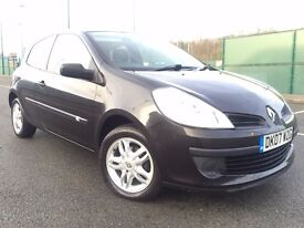 2007 (Mar 07) RENAULT CLIO 1.2 EXTREME - 3 Dr Hatch - Petrol - Manual - BLACK *FULL SERVICE HISTORY*