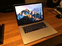 "Macbook Pro Retina 15"" Mid-2015 Top Spec: 2.5GHz i7, 16GB RAM, 500GB storage, Force-Touch - LIKE NEW"