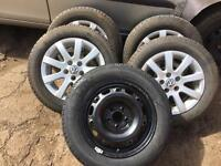 VW Polo set of 4 Alloys and Tyres for sale