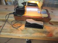 Retro styled electric sewing machine