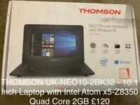 THOMSON UK-NEO10-2BK32 - 10.1 Inch Laptop with Intel Atom x5-Z8350 Quad Core 2GB