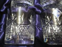Edinburgh Crystal Beauly Old Fashioned Whisky Tumblers Brand New in the Box