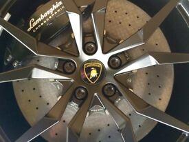 """20"""" Lamborghini Aventador Dione Wheel in gloss black."""