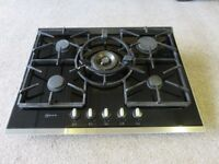 Neff T67S76N0 Gas hob with Black Glass 70cm. Used but in good condition