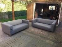 2 Ikea Klippan Sofas (grey cover)