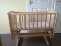 Used Mothercare gloding crib to go