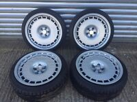 Compomotive TH1680 - 8x16 - ET25 - 5x100 inc 195/40/16 Toyo T1-R's - Corrado Golf Seat Skoda