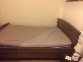 Brown double bed frame £80 ONLY