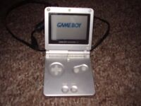 NINTENDO GAMEBOY SP WITH GAMES