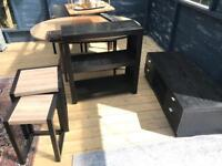 Tv Cabinet, Shelves and table nest of 2 - solid wood Furniture
