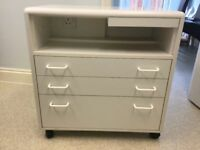 Chiropody/Podiatry/Medical workstation trolley cabinet in White