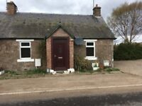 PH13 9EZ £525pcm 2 Bed unfurnished semi-detached Cottage, GCH, DG Rural Location with garden