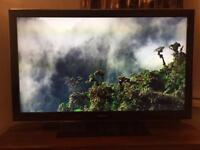 "Samsung LCD 46"" HD TV + Panasonic Blu Ray player"