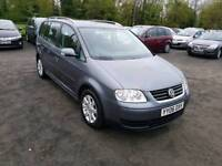 Touran 1.9L DIESEL 2006 7 seater full service history long mot excellent condition