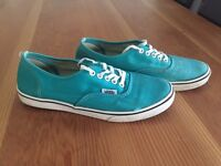 Converse teal low tops, size 4