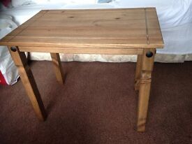 For sale is this Corona pine side table/coffee table