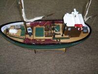 Radio controlled fishing boat