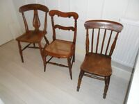 Victorian or Edwardian Side or Kitchen Chairs