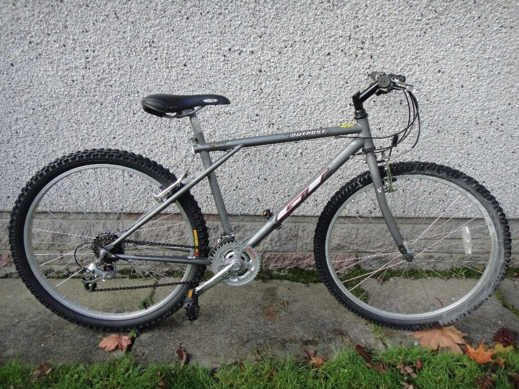 GT outpost retro mountain bike 26 inch wheels, 21 gears, 18 inch frame silver as newin AberdeenGumtree - GT outpost retro mountain bike 26 inch wheels, 21 gears, 18 inch frame silver as new working order can possibly deliver call or text 07873637901 sold as seen