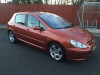 2002 PEUGEOT 307 D TURBO 2.0 HDi 110bhp LOADS EXTRAS HALF LEATHERS SUNROOF CLIMATE CONTROL ALLOYS ++