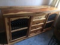 Jali wood sideboard unit