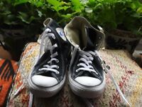 Black Converse All Star Trainers Size 6 New