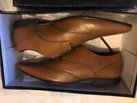 Men's brown lether shoes size 12 brand new unworn