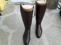 Leather riding boots ..