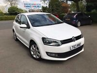 2013 VW POLO MATCH EDITION WHITE 1.2 TDI 72 MPG £20 TAX 28600 MILES 1 OWNER FINANCE £118 X 60 MONTHS