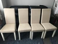4x dining room chairs only £100 lot no offers