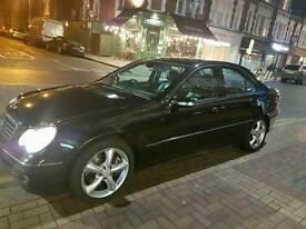 Mercedes c class cheap (fsh) full leather black 148500 millage
