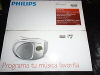 PHILIPS CD RADIO SOUND MACHINE NEW BOXED AZ105S/05 SILVER RRP £60