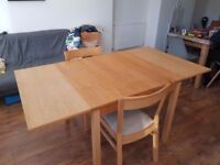 Ikea Dining Table and Two Chairs