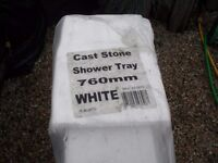SHOWER BASE. never been used. cast stone shower tray 760x760