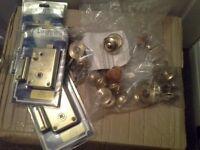 Brass door handles and locks