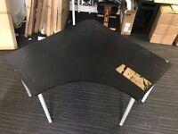 "IKEA ""ADILS/LINNMON"" Corner Table / Desk - Black"