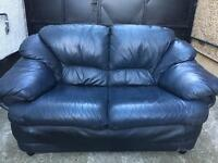 Black leather 3 seater sofa •free delivery