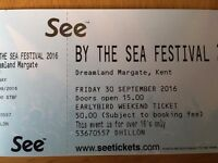 2 Tickets for By The Sea Festival at Dreamland in Margate