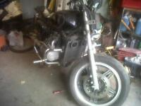 pruced to mov tomorrow. Bobber, from 1979 Honda goldwing 1100cc