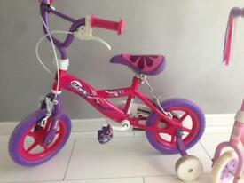 Girls Sonic Glitz 12 Inch Bicycle Complete with Stabilisers
