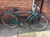 "Men's 19"" 3 speed vintage raliegh bike bicycle . Excellent condition"