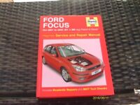 Haynes Service and Repair Manual for Ford Focus October 2001 to 2005 Petrol and Diesel